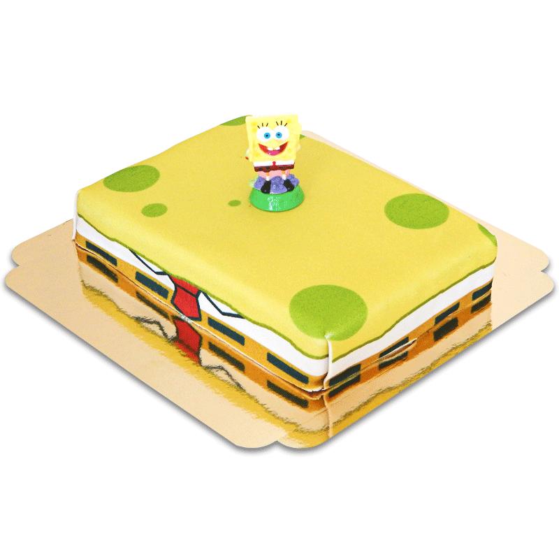 SpongeBob auf Schwamm-Torte