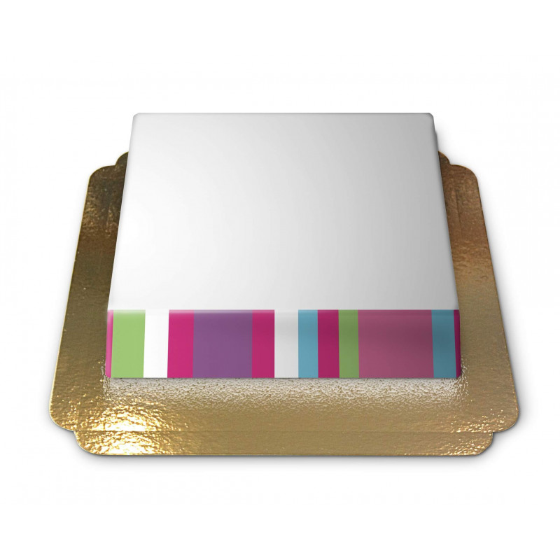 Tort ze zdjęciem z kolorową ramką