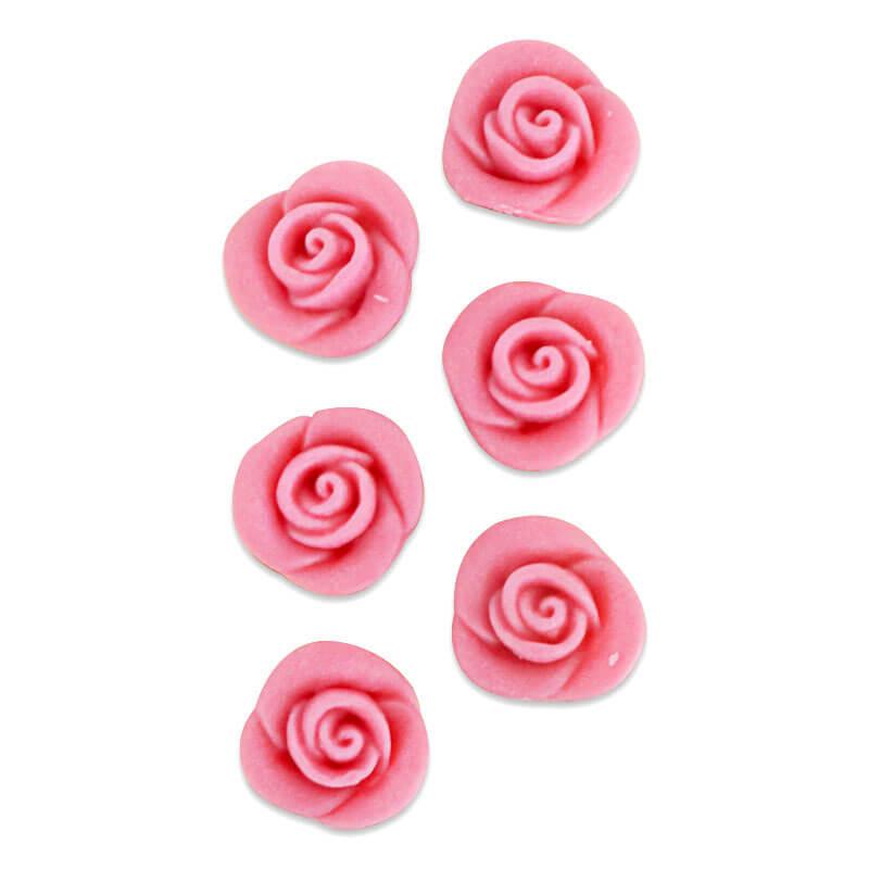 Marsepein Roos Pink (6 stuks)