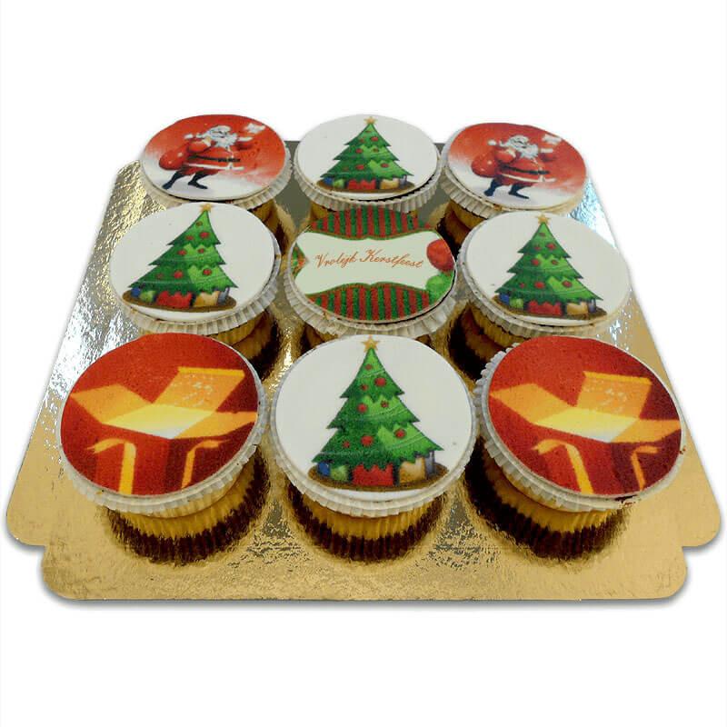 Weihnachts-Cupcakes, 9 Stück NL